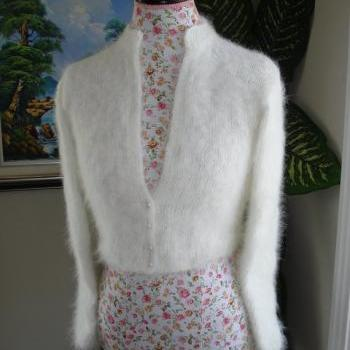 Ready to ship - Kate Middleton Angora Bolero/ bridal bolero/ Size Small